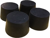 STOPPER, #8, 1-5/8 X 1-5/16, (41 x 33 MM) RUBBER