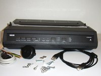 Parallel printer 12/24V Black Grey H1252B