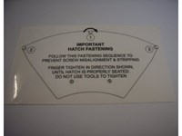 Kit Label f. Radome hatch/F77-33