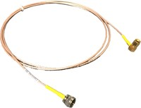 CABLE ASSY, RG-179, F(M) TO SMA(M)(RA), 60 IN, YEL