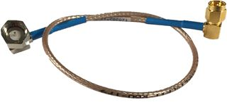 Cable Assy, RG-179, SMA (RA) TO F (RA), BLUE